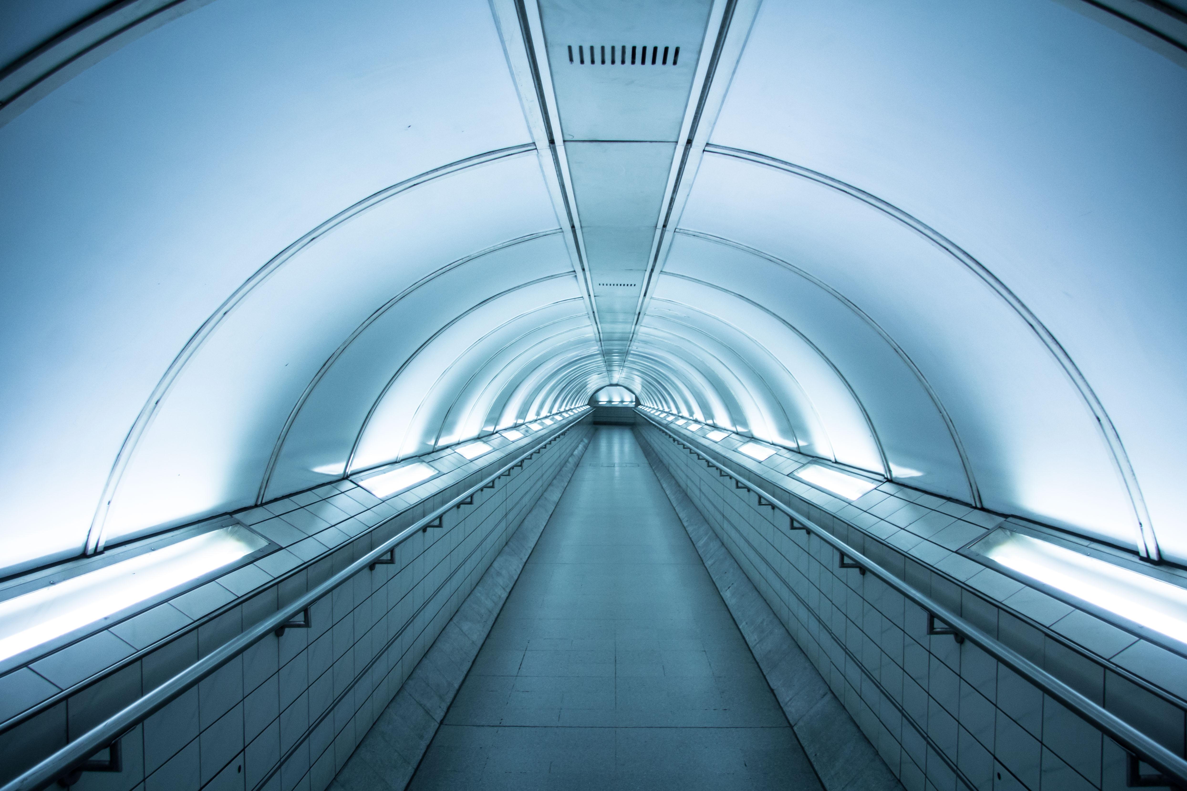 empty straight hallway