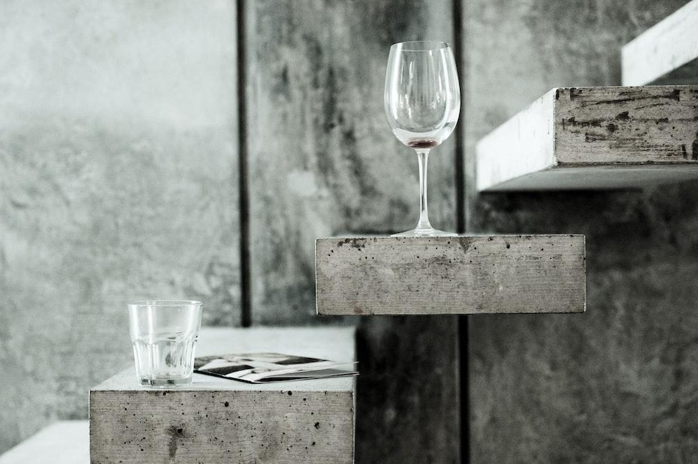 wine glass on rack