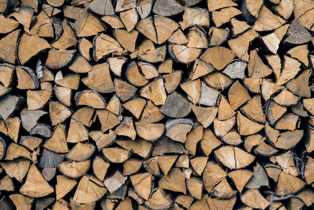 pile of brown firewood