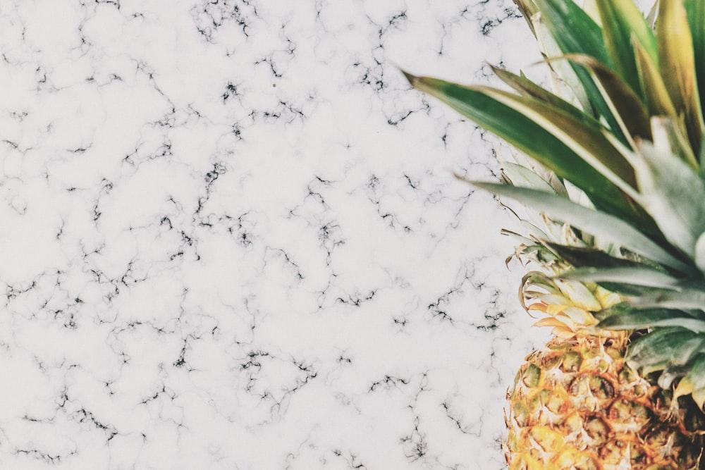 pineapple on marble board