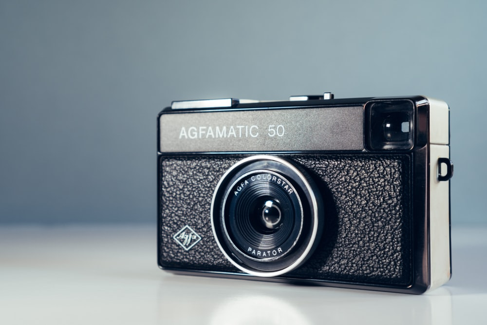 black and gray Agfamatic 50 camera