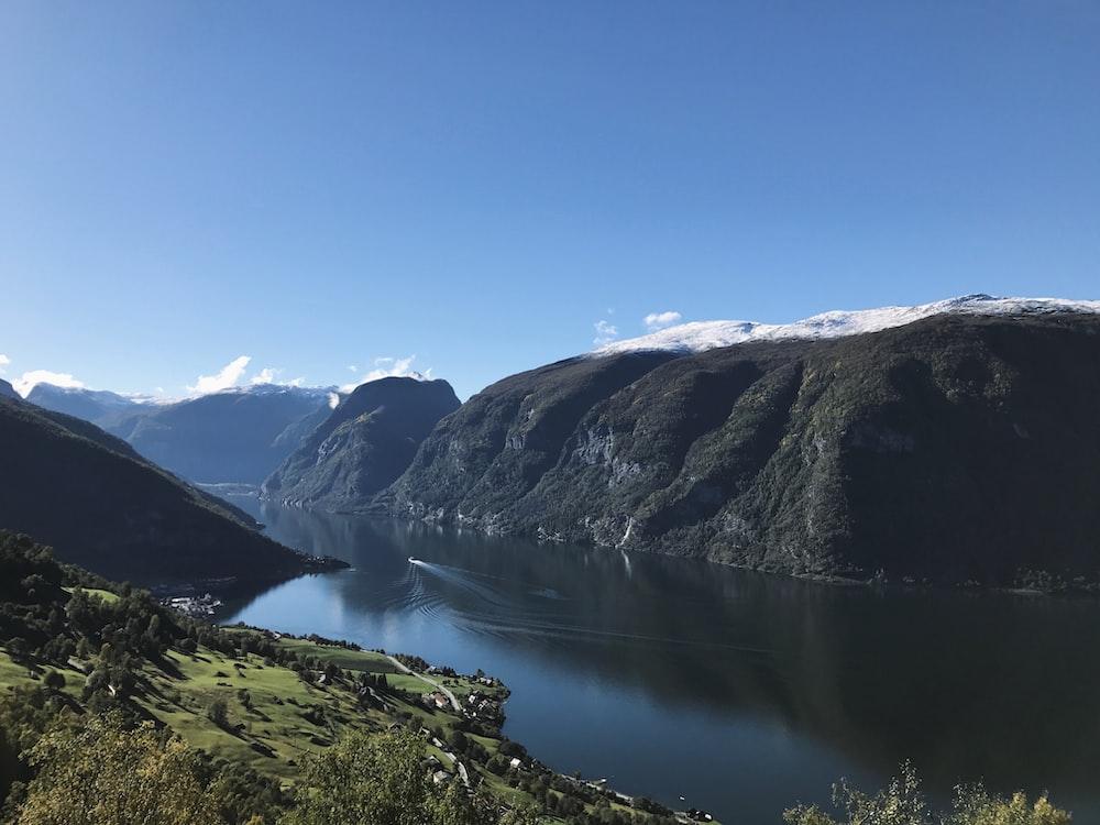 lake and mountain ranges