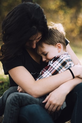 During a family vacation to the Smoky Mountains our son had a challenging moment.. but he sought and found comfort in the arms of his mom.