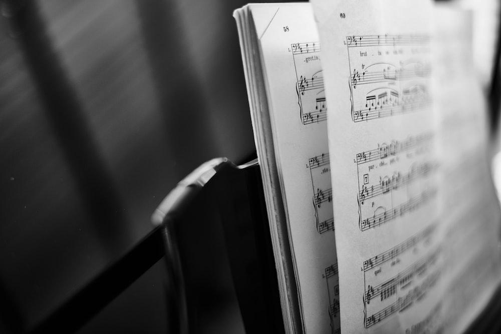 music score closeup photo