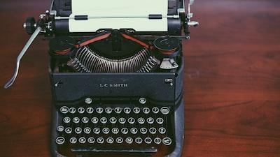 Vintage black typewriter