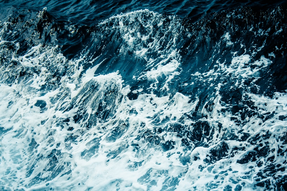 aerial photography of sea waves