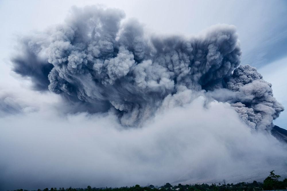 landscape photography of smoke