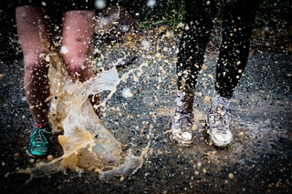 rain soaked ground