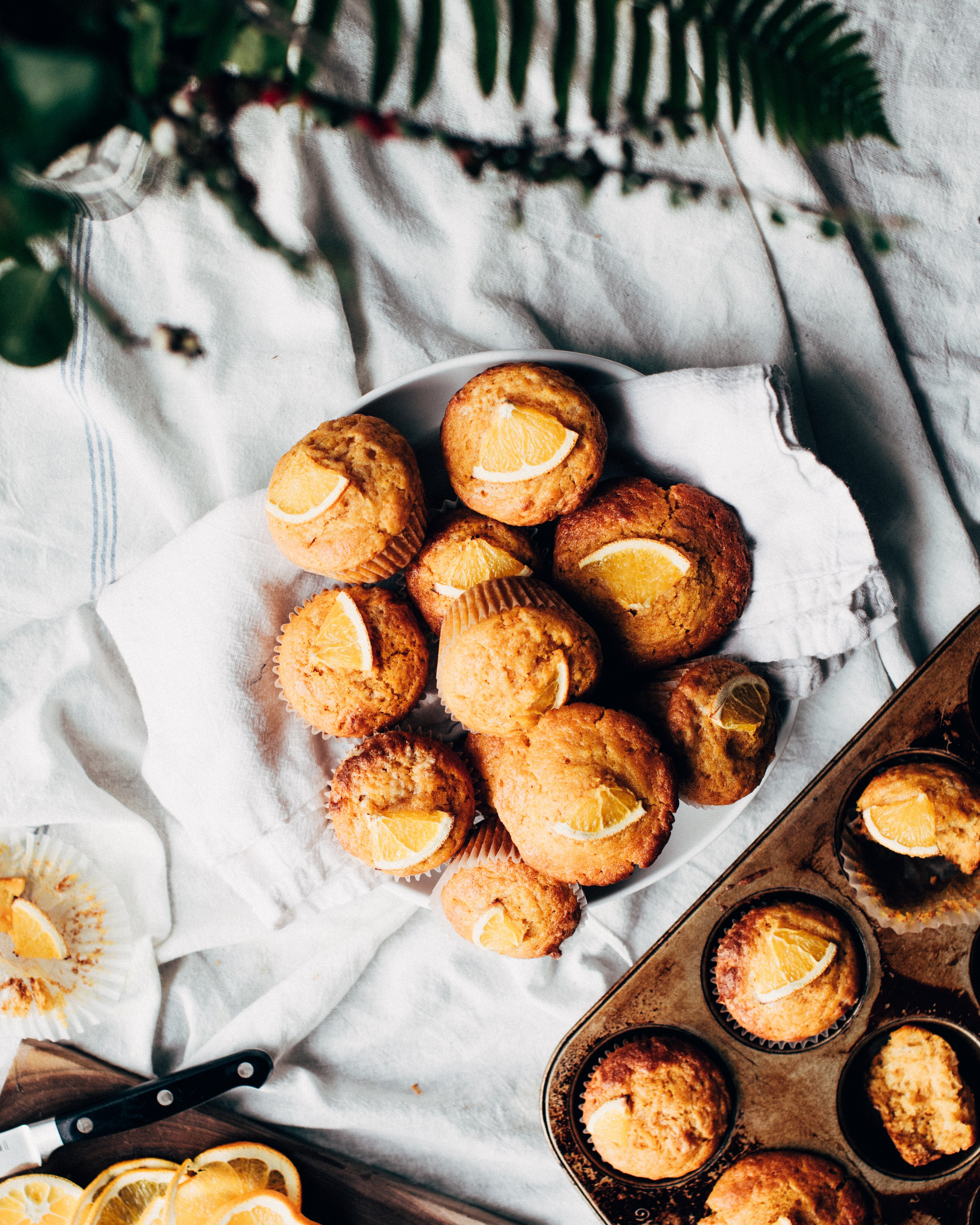 pile of muffin on white bowl