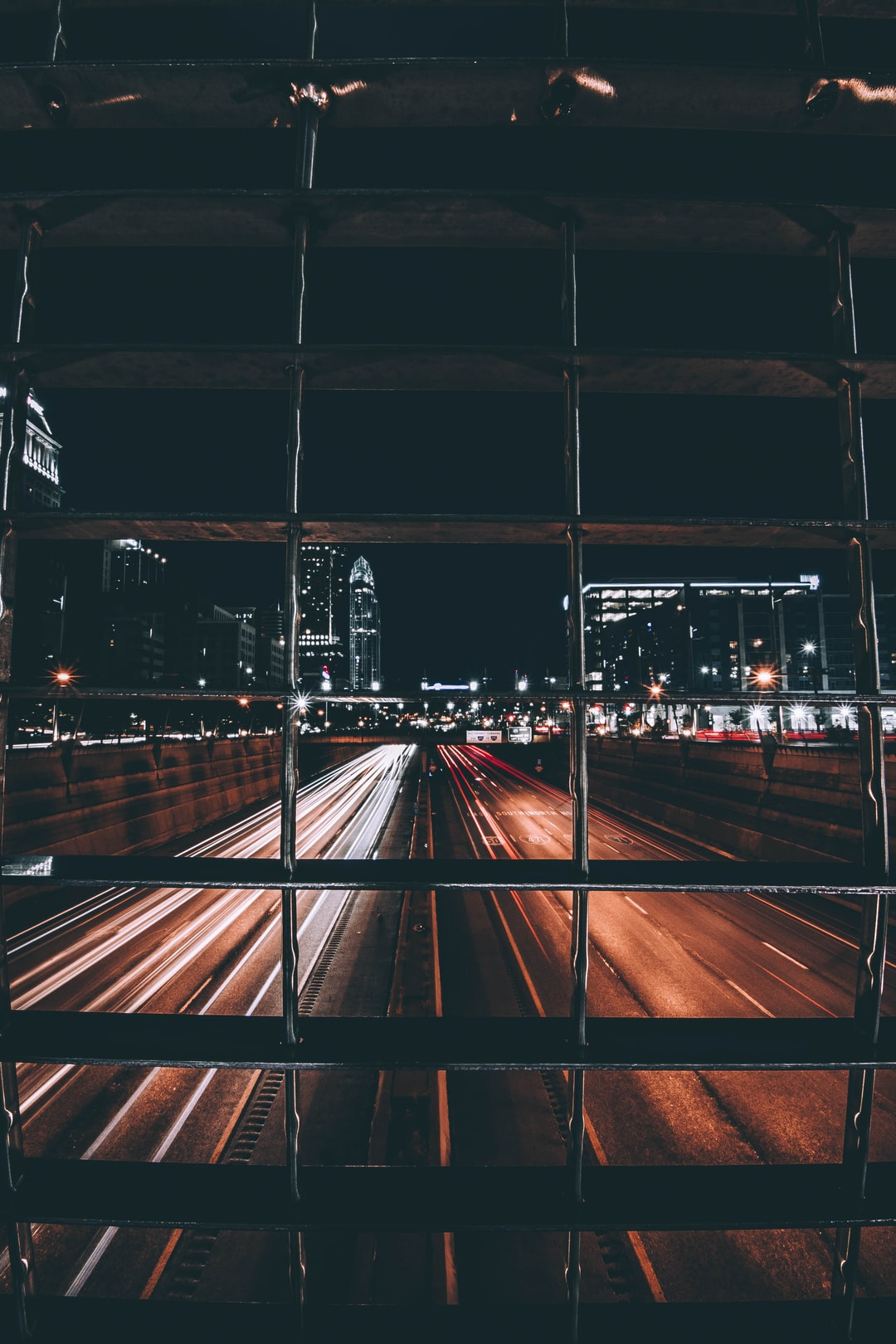 Traffic at night in Cincinnati