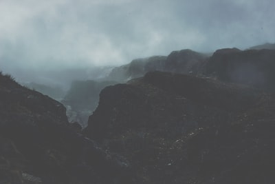landscape photography of mountains covered in fog south island zoom background