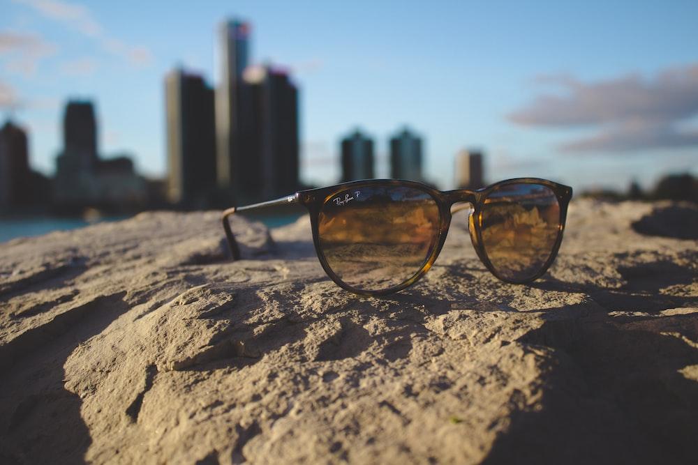 black Ray-Ban framed sunglasses