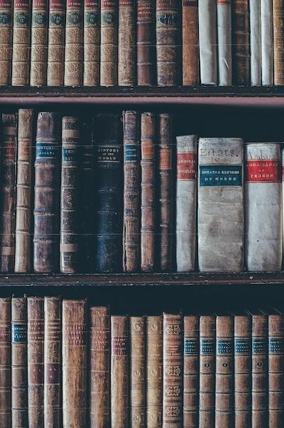 Antique books and encyclopedias
