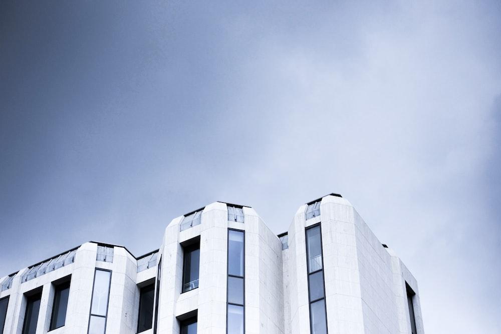 white building
