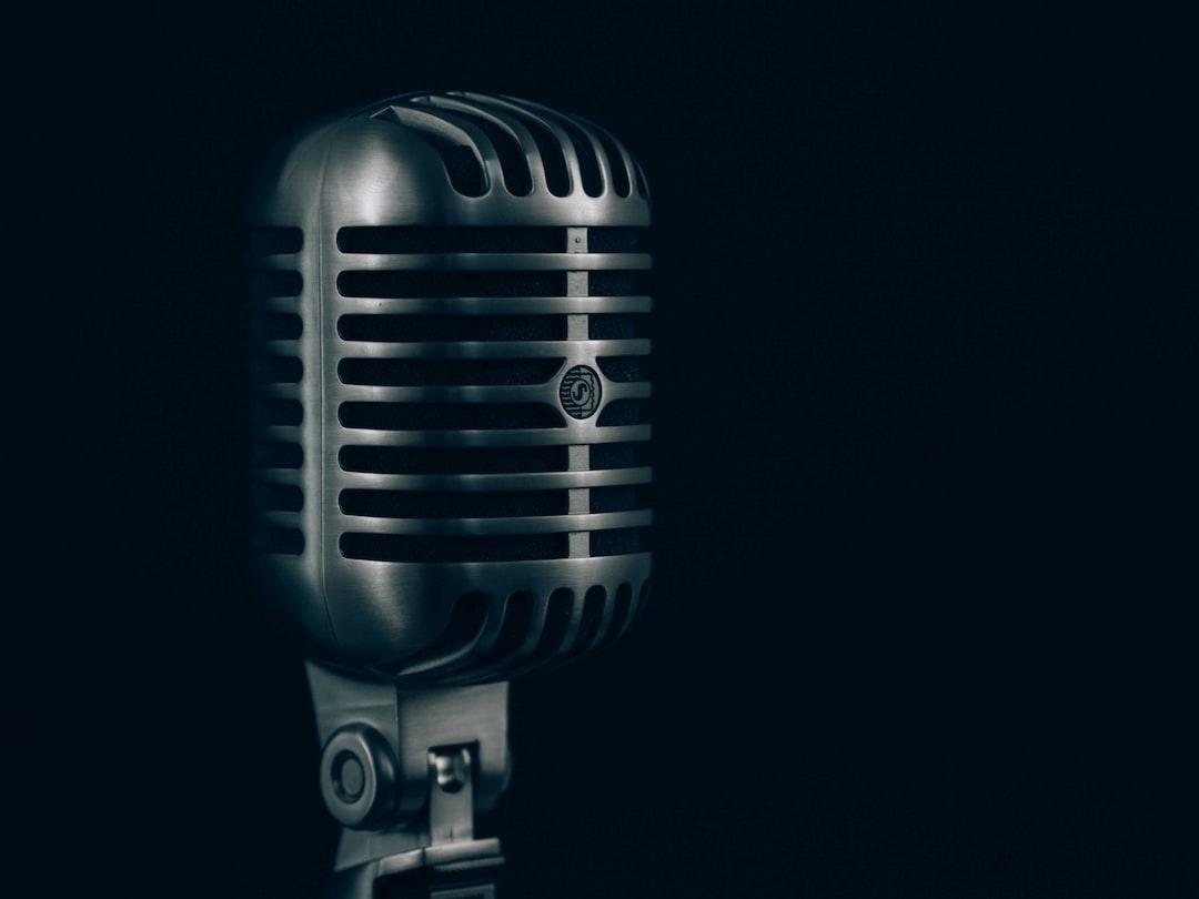 Elegant steel microphone