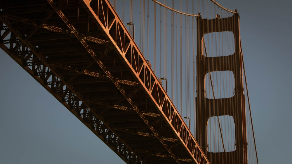 low angled photo of Golden Gate