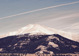 landscape photography of black and white mountains