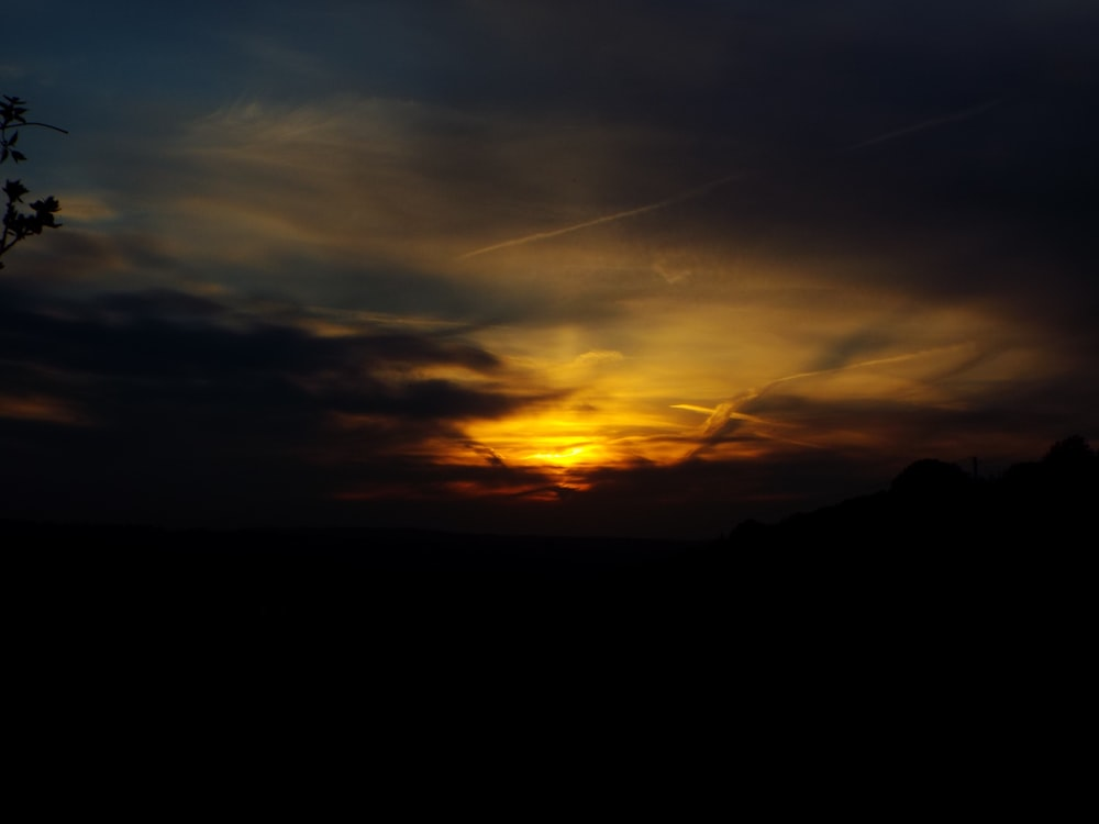 time lapse photo of sunset
