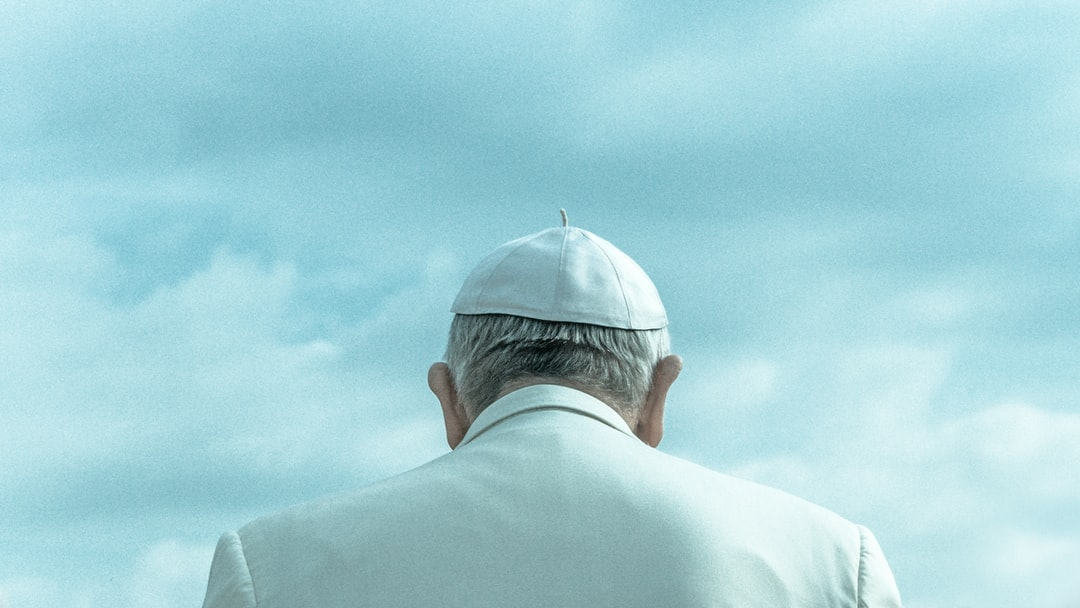 The Pope from behind