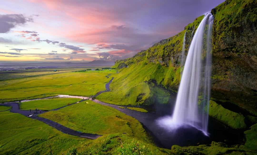 Idyllic landscape with a waterfall