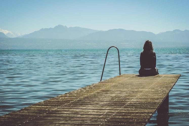girl at pier