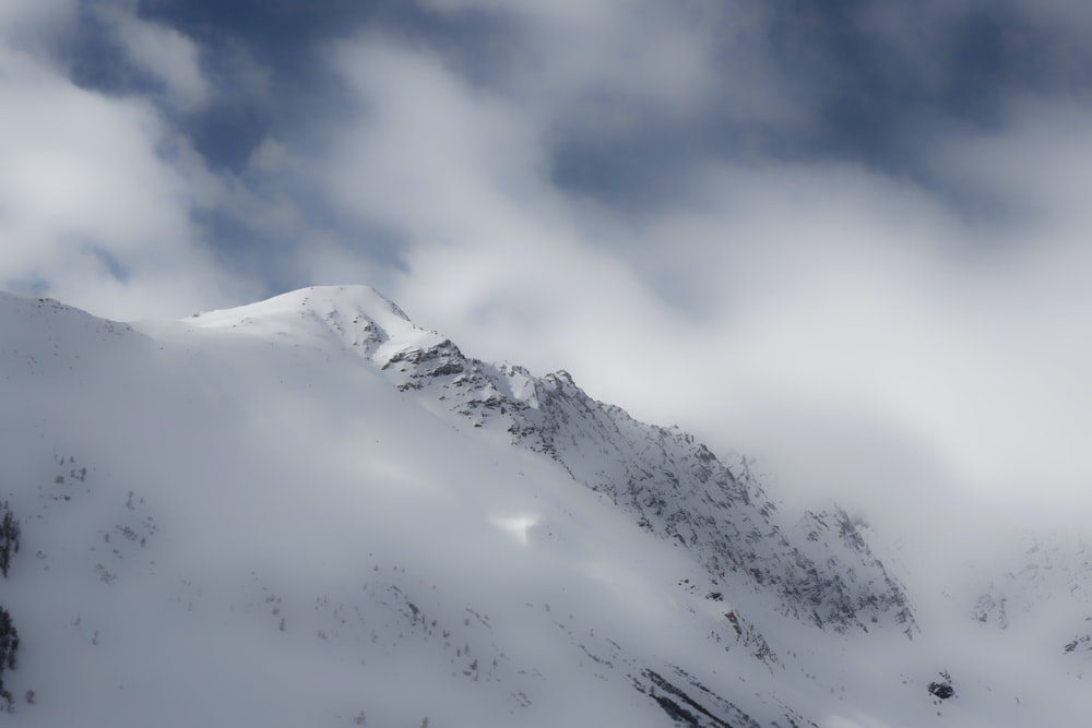 mountain with snow at daytime