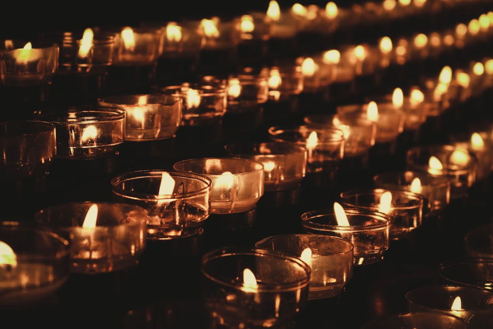 lighted tealight candle holders