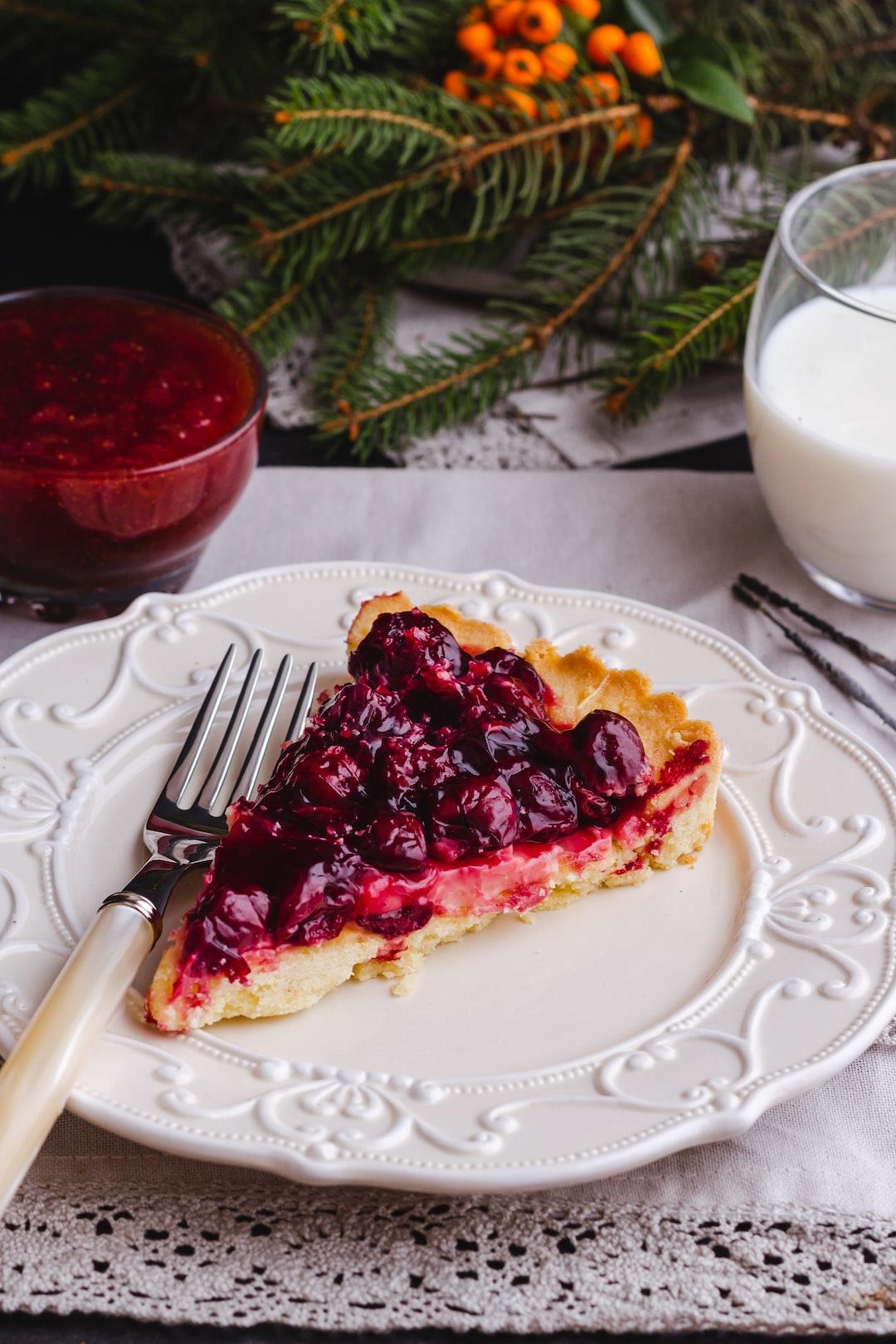 Slice of fruit pie