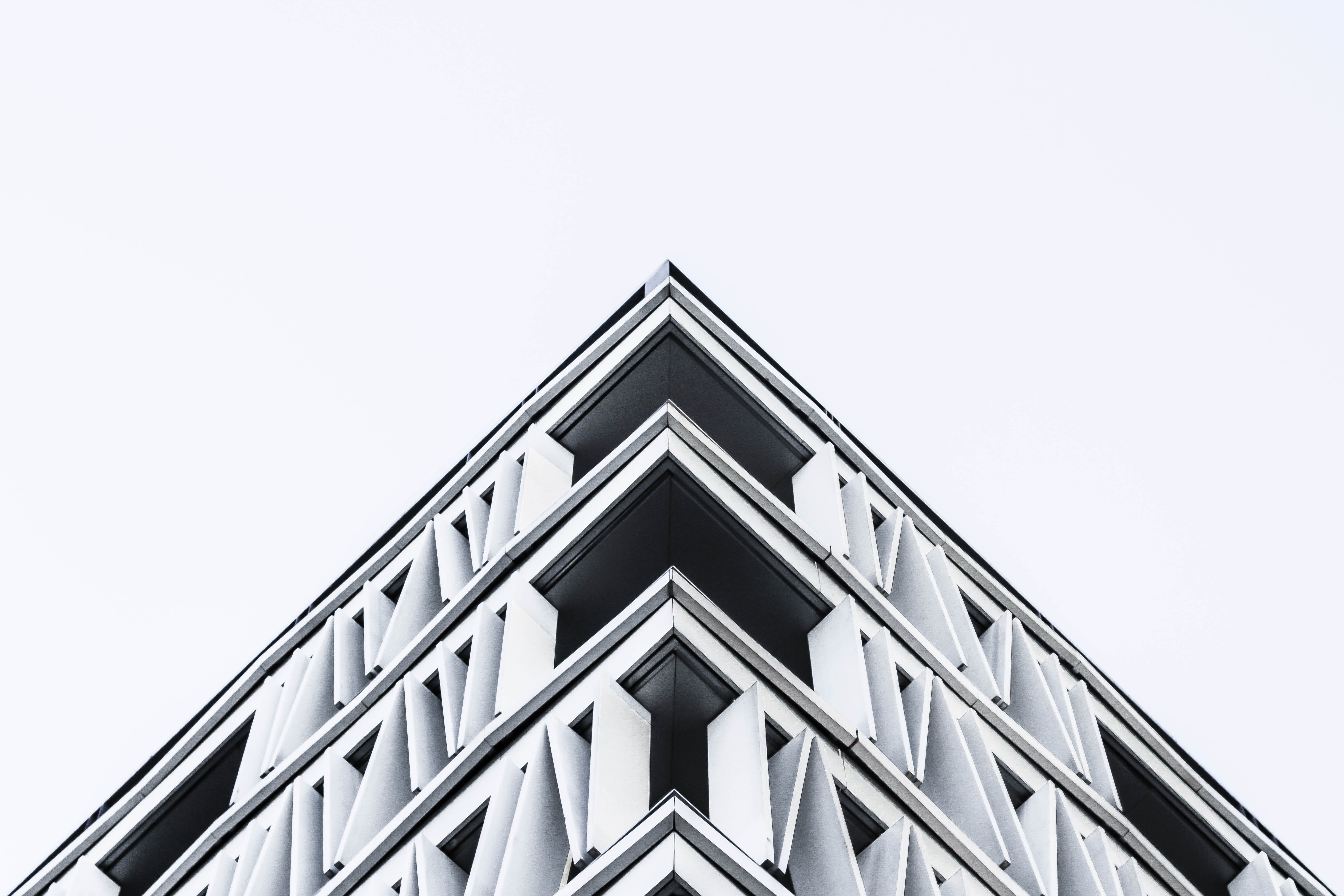 A geometric architecture design of a building in Madrid.