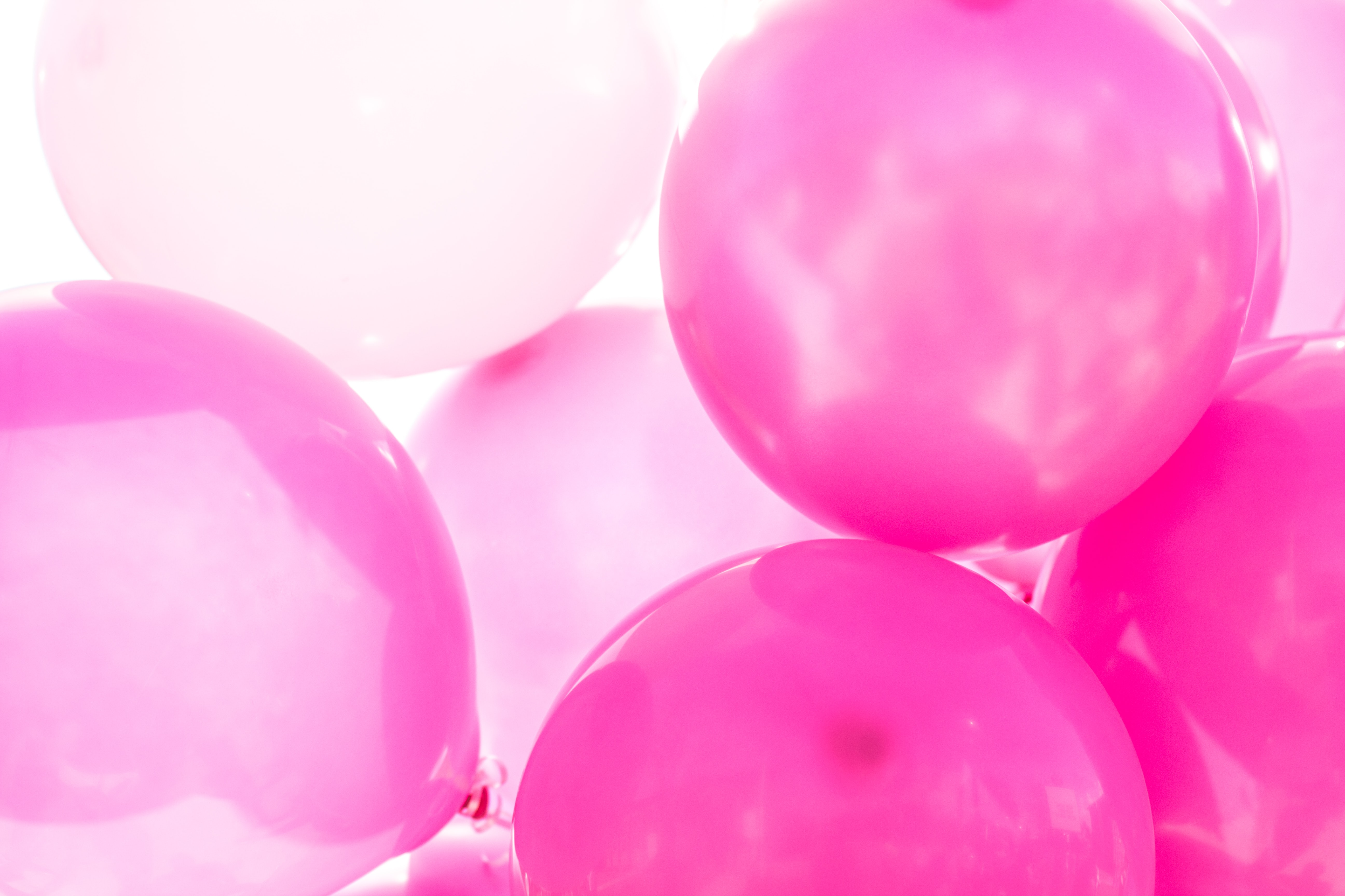 Pink and purple balloons.