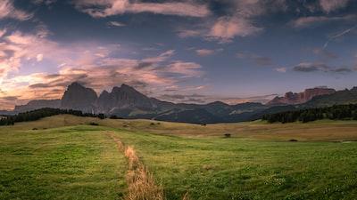 Peaceful Seiser Alm meadow