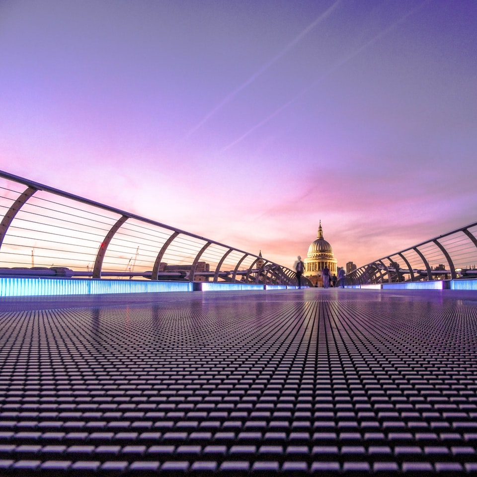 Evening over Millennium Bridge photo by James Padolsey