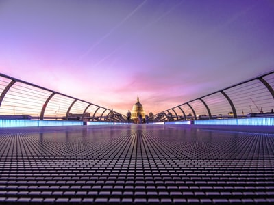 a view of st. paul's cathedral from the millennium bridge in london london zoom background