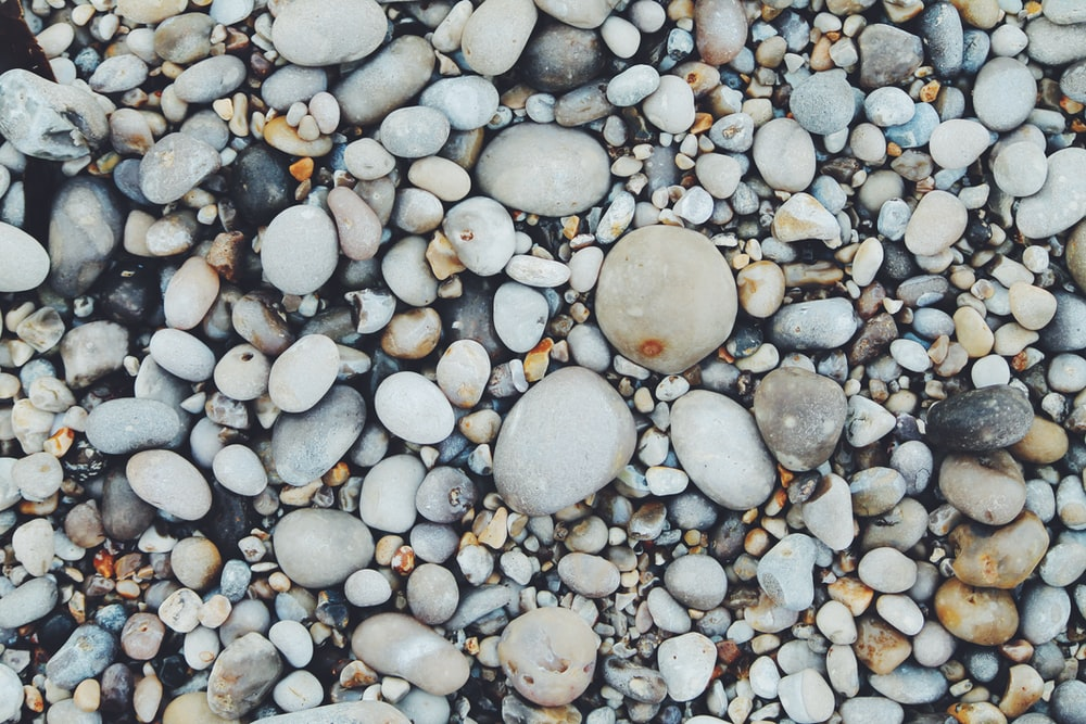 white and brown pebbles
