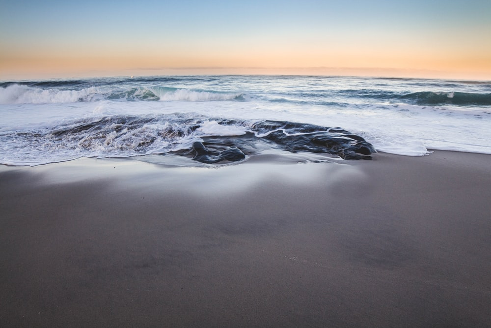 gray shore near body of water