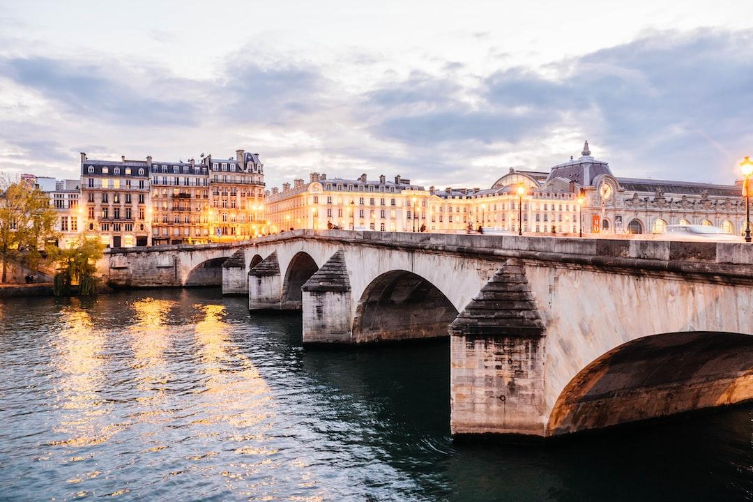 bridge near body of water in Paris France