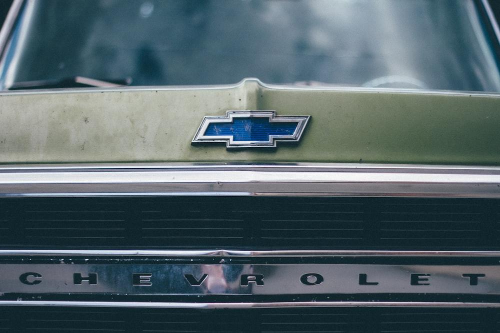 photography of Chevrolet logo emblem