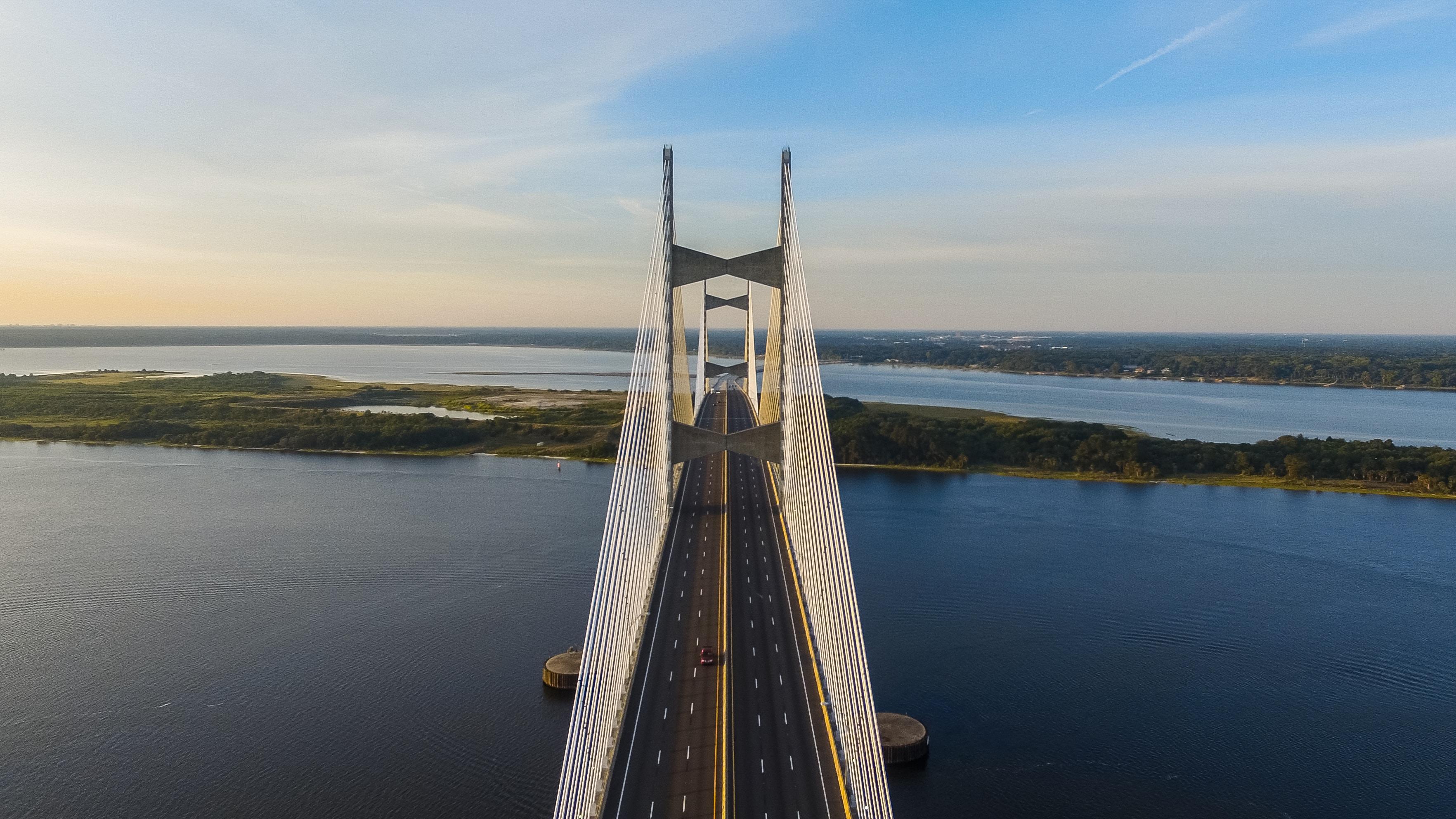 aerial view of bridge during daytime
