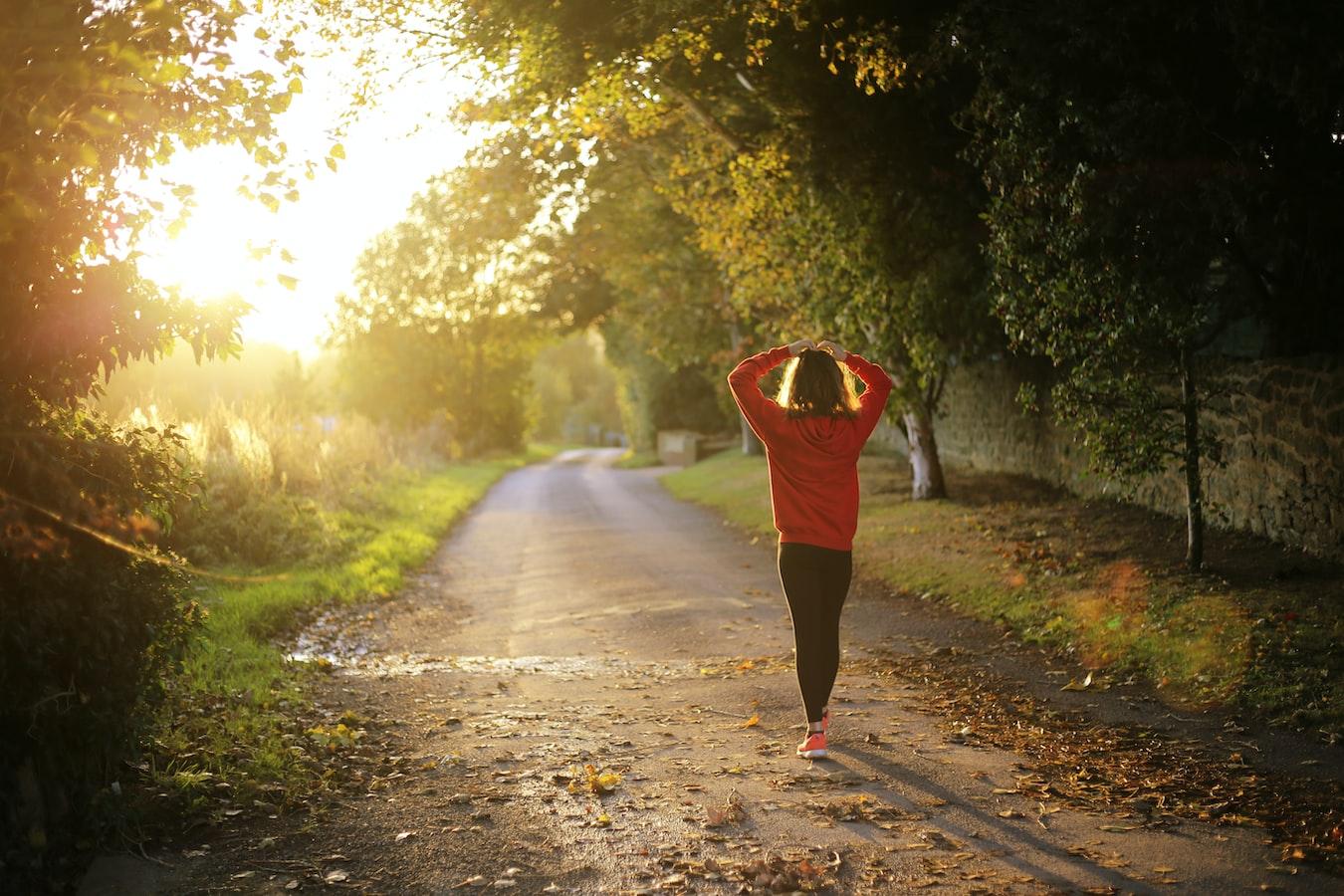 take a mental health break and go on a walk