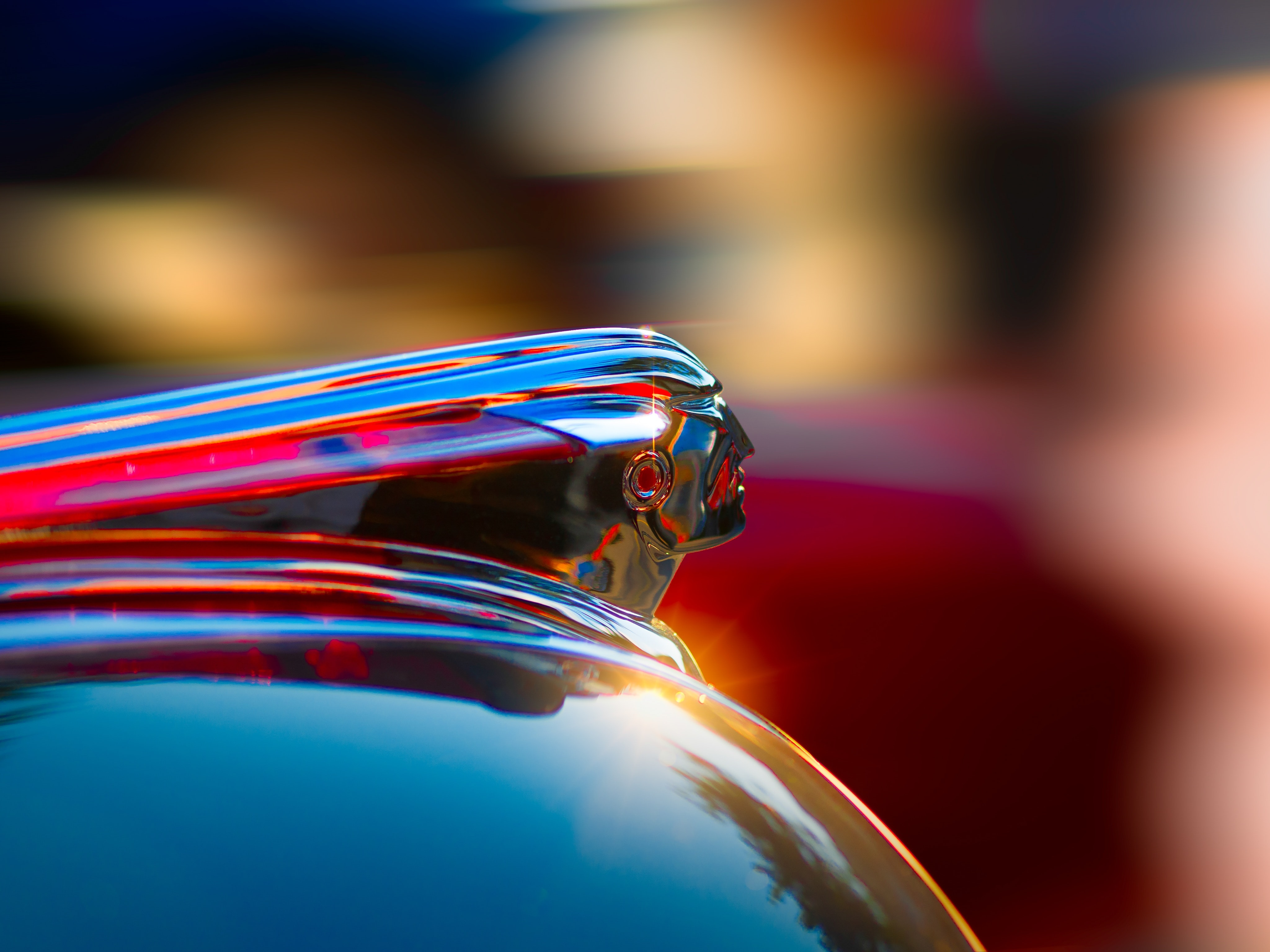 selective photography of glass container