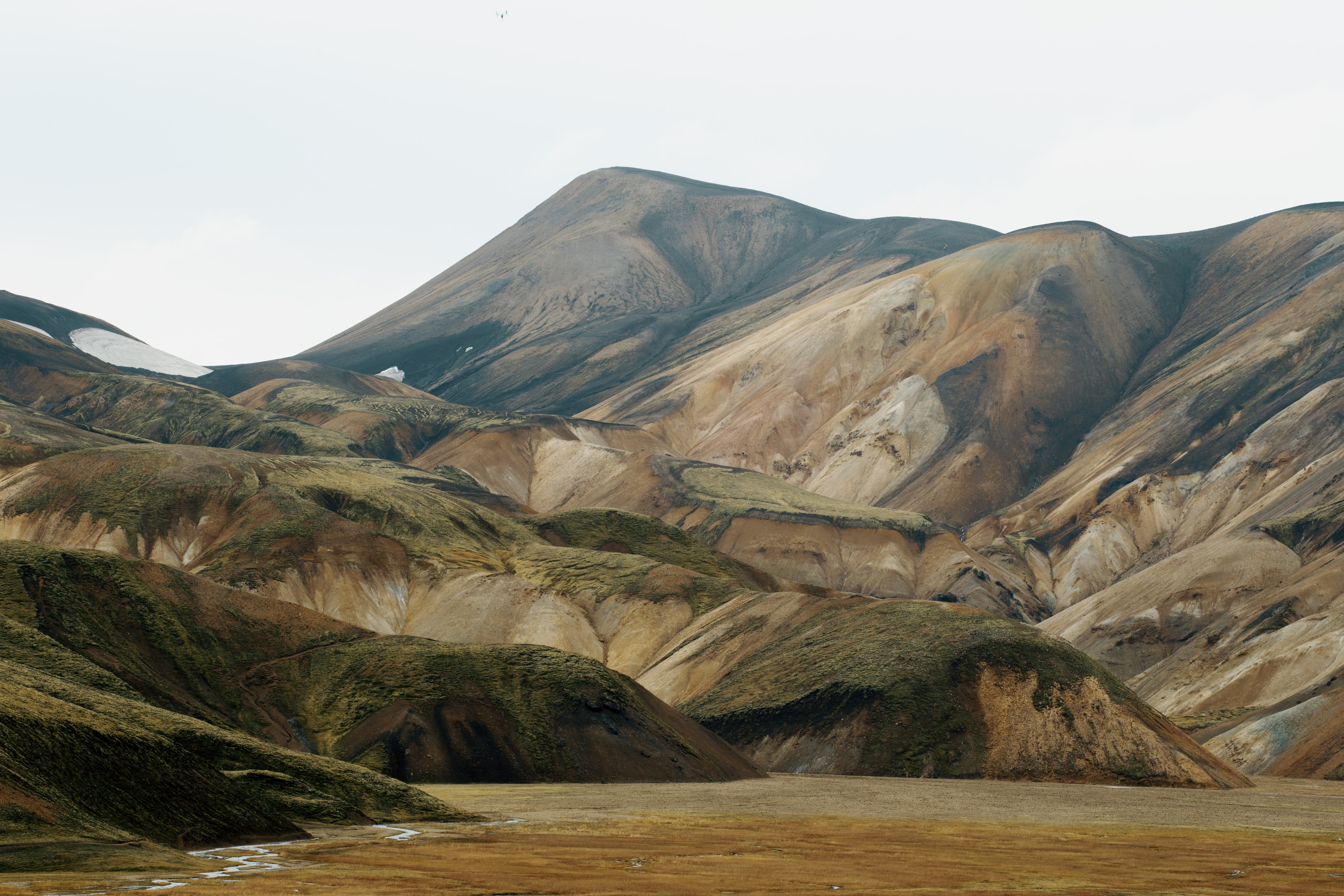 An eroded mountain ridge in Landmannalaugar