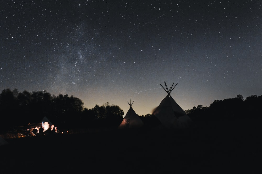 two tipi tents