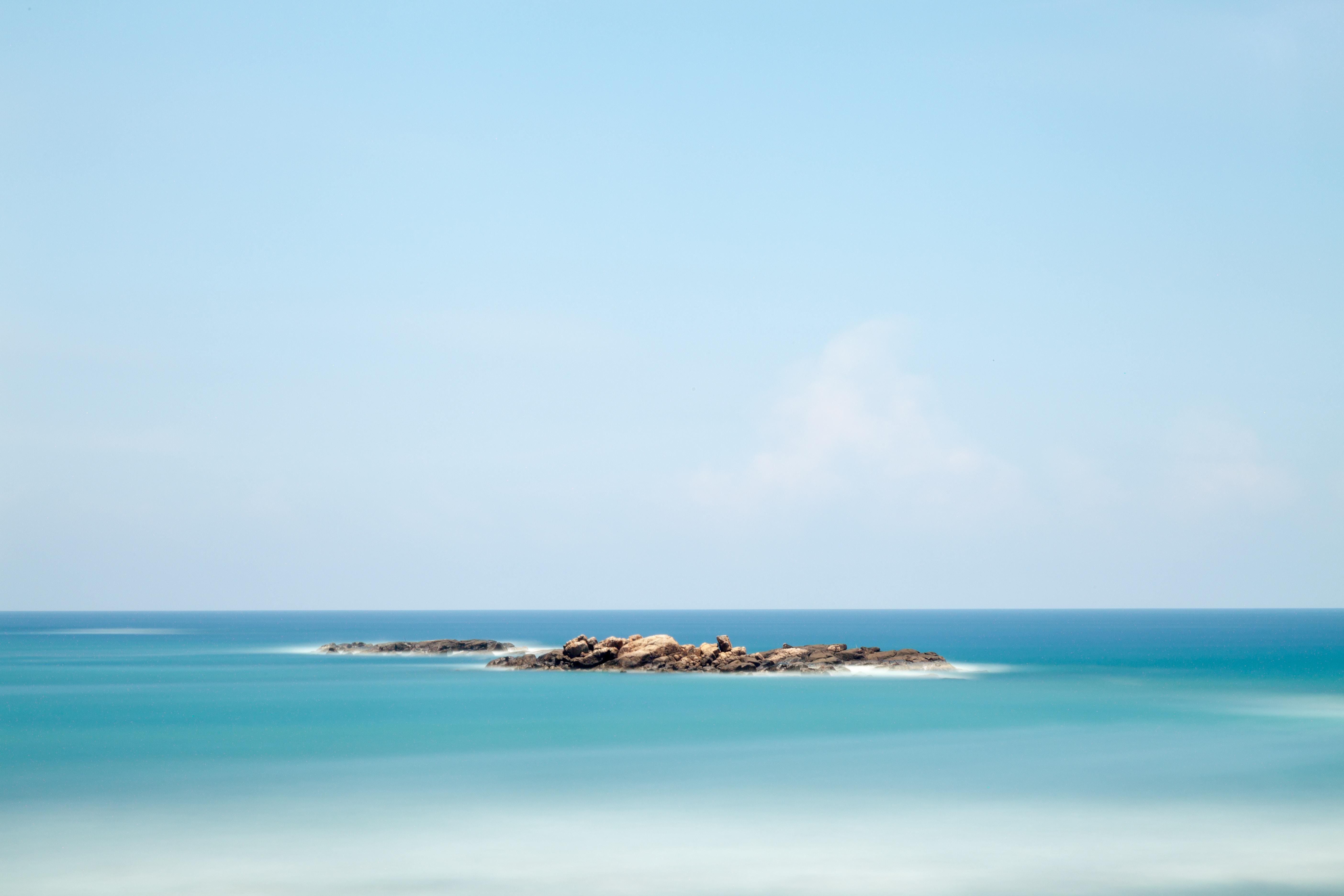landscape photo of island