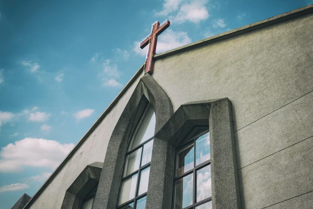 gray concrete church