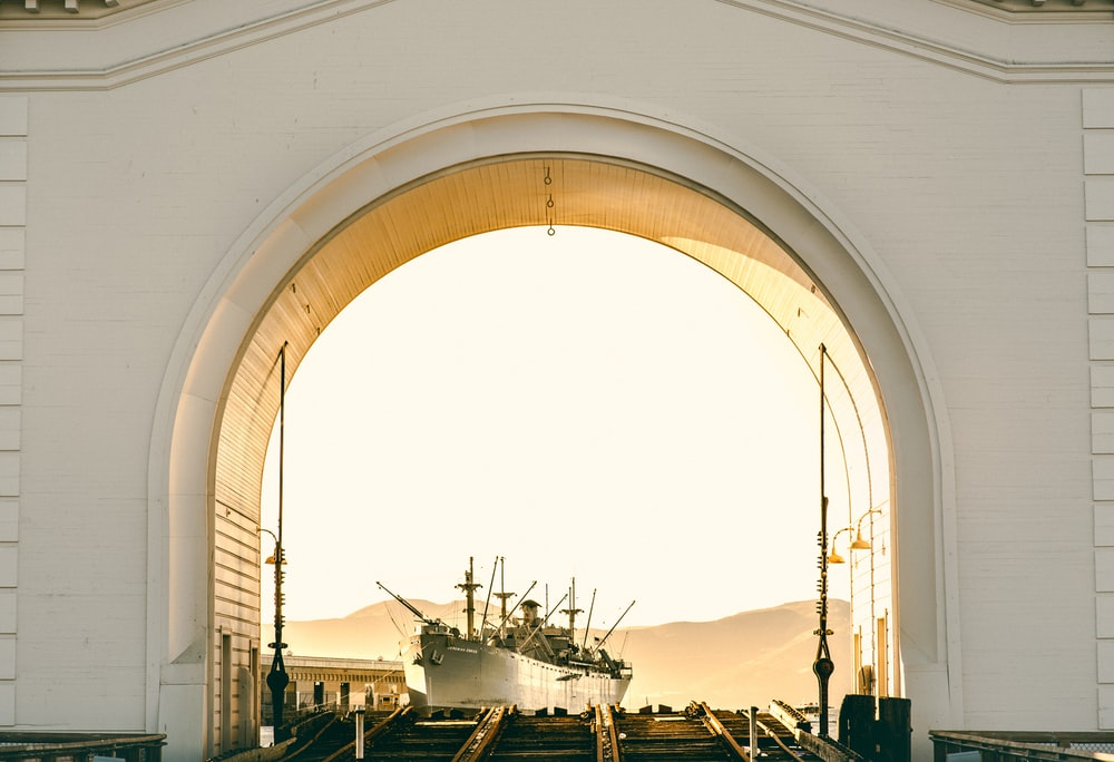 white arch