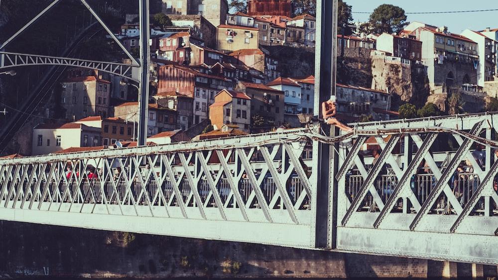 photography of gray bridge