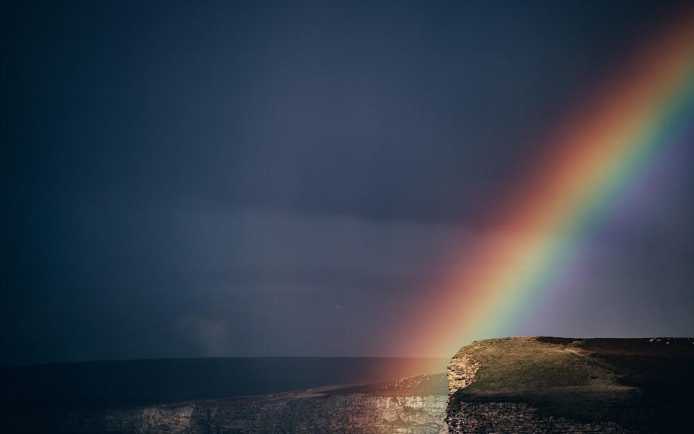 rainbow on plateau photo