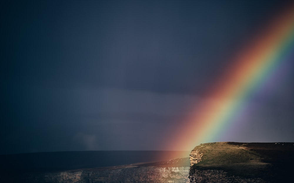 rainbow on plateau photo