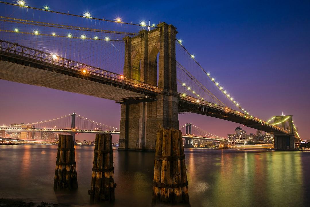 Bridge, Light, Suspension Bridge And East River HD Photo