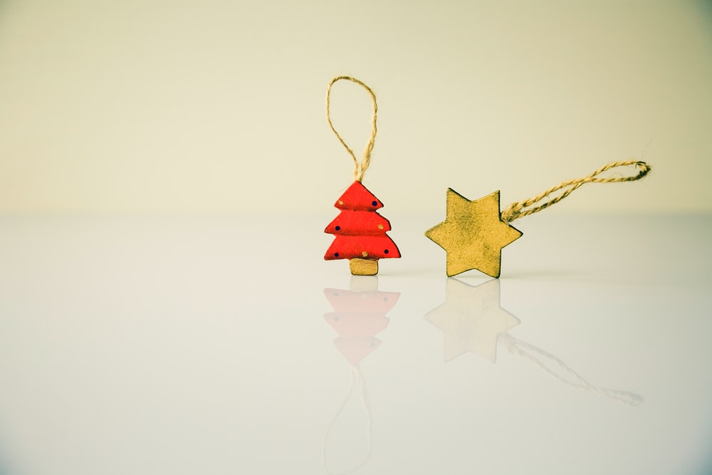 star and red tree Christmas tree ornaments